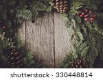 Christmas Wreath With Rustic...