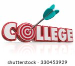 arrow hitting target in college ...   Shutterstock . vector #330453929
