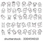 group of sketch kids | Shutterstock .eps vector #330454010