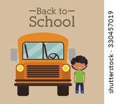 back to school design  vector... | Shutterstock .eps vector #330457019