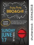 barbecue party poster design... | Shutterstock .eps vector #330462818