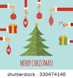 merry christmas concept in... | Shutterstock .eps vector #330474140