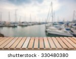 Wooden Pier With Yacht