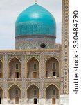 Small photo of Tilya Kori Madrasah, Registan, Samarkand, Central Asia. Samarkand is one of the cities on antique Silk Road.