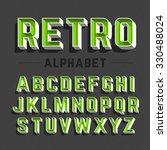retro style alphabet vector... | Shutterstock .eps vector #330488024