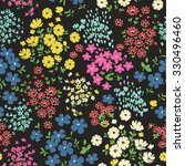 seamless ditsy floral pattern... | Shutterstock .eps vector #330496460