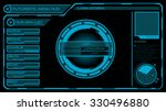 futuristic login   menu screen... | Shutterstock .eps vector #330496880