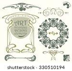 art nouveau design elements   Shutterstock .eps vector #330510194