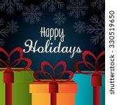 happy holidays christmas season ... | Shutterstock .eps vector #330519650