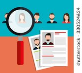 find person for job opportunity ... | Shutterstock .eps vector #330524624