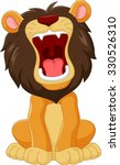cartoon lion roaring isolated... | Shutterstock .eps vector #330526310