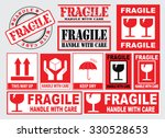 packaging or fragile stickers ... | Shutterstock .eps vector #330528653