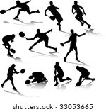 tennis shadow | Shutterstock .eps vector #33053665