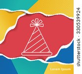 birthday hat line icon | Shutterstock .eps vector #330539924