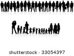 illustration of people... | Shutterstock .eps vector #33054397