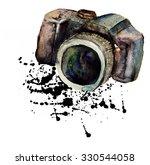 watercolour camera    Shutterstock . vector #330544058