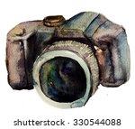 watercolour camera    Shutterstock . vector #330544088