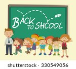 children and teacher back to... | Shutterstock .eps vector #330549056