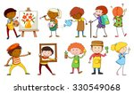 people doing different... | Shutterstock .eps vector #330549068