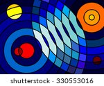 space abstract landscape ... | Shutterstock .eps vector #330553016