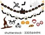 halloween garlands and elements ... | Shutterstock .eps vector #330564494
