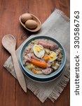 traditional zurek with sausage...   Shutterstock . vector #330586763