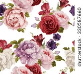 seamless floral pattern with... | Shutterstock .eps vector #330587660