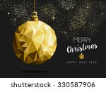 merry christmas happy new year... | Shutterstock .eps vector #330587906