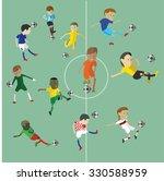 soccer football character | Shutterstock .eps vector #330588959