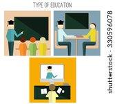 type of education. classroom ... | Shutterstock .eps vector #330596078