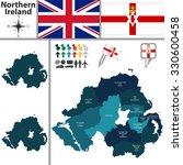 vector map of northern ireland... | Shutterstock .eps vector #330600458