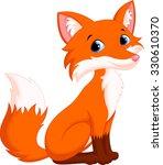 cute fox cartoon | Shutterstock .eps vector #330610370