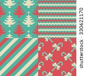 set of christmas patterns | Shutterstock .eps vector #330621170