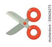 cartoon scissors icon in simple ...
