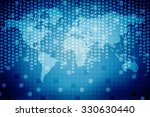 digital world map  ... | Shutterstock . vector #330630440