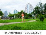 fitness woman running at city... | Shutterstock . vector #330631574