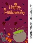 happy halloween holiday... | Shutterstock .eps vector #330632879