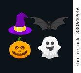set of icons for halloween ... | Shutterstock .eps vector #330640946