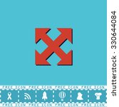 four sides arrow. red flat... | Shutterstock .eps vector #330644084