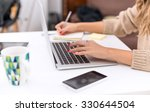 woman typing on laptop | Shutterstock . vector #330644504