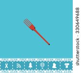 fork. red flat symbol with dark ... | Shutterstock .eps vector #330649688