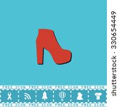 womens shoes. red flat symbol...   Shutterstock .eps vector #330654449