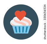 muffin colored vector...   Shutterstock .eps vector #330656534