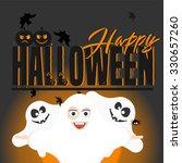 halloween vector card with...   Shutterstock .eps vector #330657260