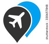 airport map markers vector icon.... | Shutterstock .eps vector #330657848
