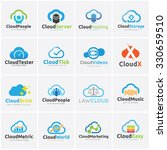 cloud logo collection cloud... | Shutterstock .eps vector #330659510