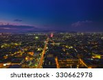 mexico city at night high...   Shutterstock . vector #330662978
