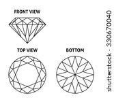 diamond on three sides  vector... | Shutterstock .eps vector #330670040