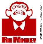 Red Chimpanzees. Red  Abstract...
