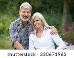 portrait of mature couple... | Shutterstock . vector #330671963